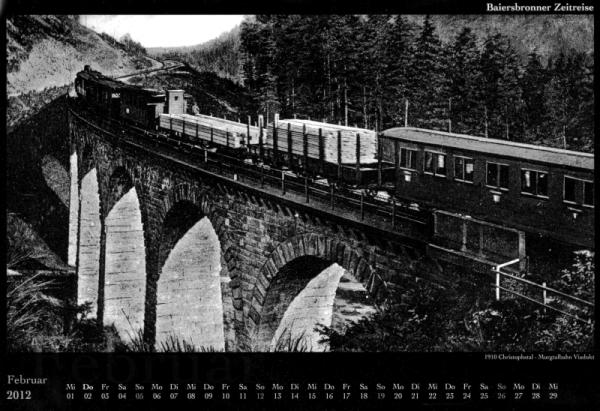 02-1910 Christophstal - Murgtalbahn Viadukt