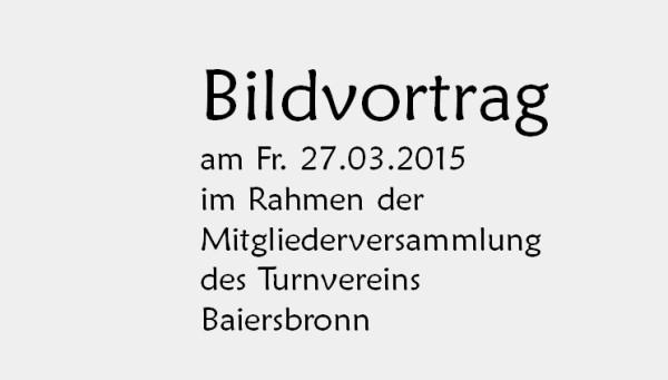 Vom Oberdorf ins Unterdorf Mitgliederversammlung TV Baiersbronn 27.03.2015 nur Text