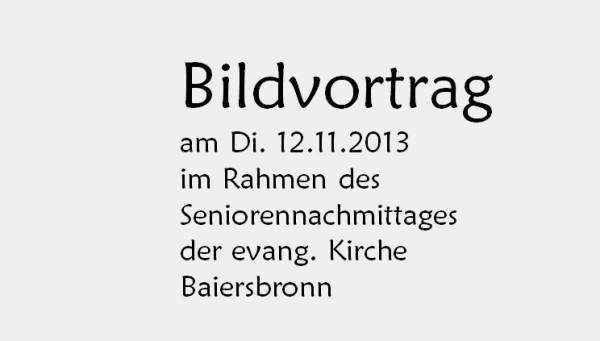 Vom Oberdorf ins Unterdorf evang. Senioren Baiersbronn 12.11.13 nur Text